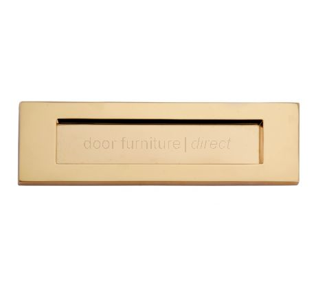 Polished Brass Victorian Plain Letter Box 8x3in (203x76mm)