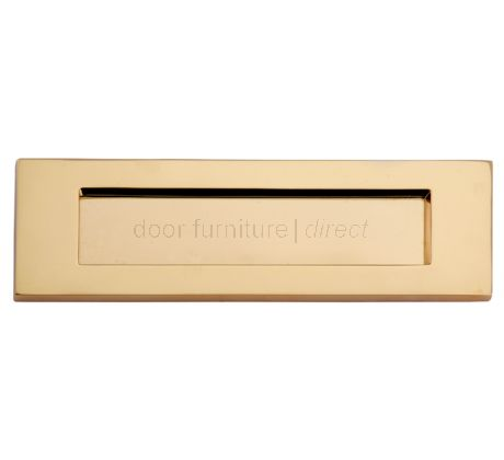 Polished Brass Victorian Plain Letter Box 10x4in (254x100mm)