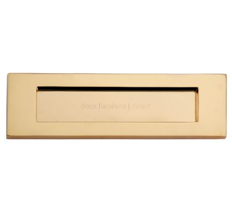Polished Brass Victorian Plain Letter Box 14x4.5in (356x112mm)