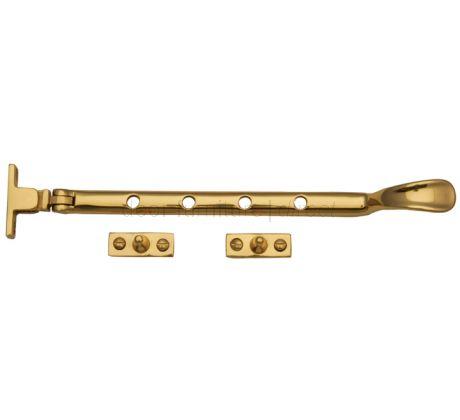 Polished Brass Window Casement Stay 8in (203mm)