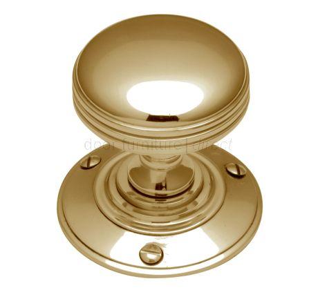 Polished Brass Richmond Mortice Door Knob Set 56mm