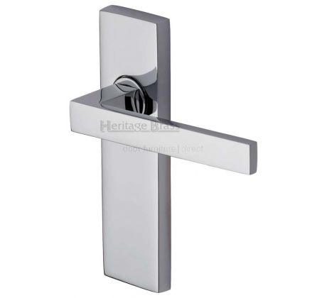 Delta Straight Lever Polished Chrome Latch Door Handles