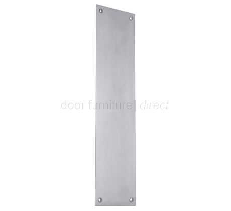 Satin Chrome Square Edge Finger Push Plate 305x76mm