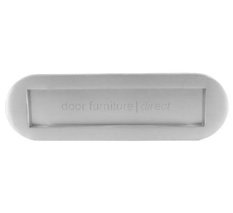 Satin Chrome Rounded Letter Box 10x3in (255x76mm)