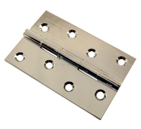 Chrome Hinge Double Phosphor Bronze Washered 102x67x3mm in Prs