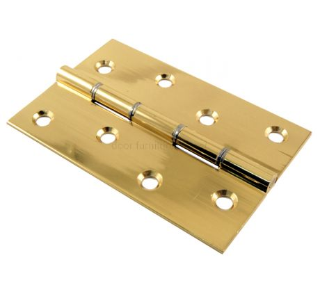 Polished Brass Butt Hinges Double Steel Washered 102x67x2.2mm in Prs