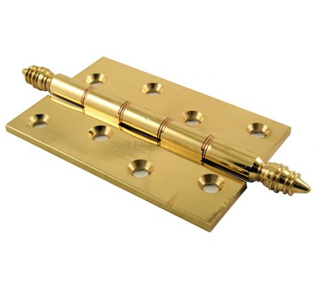 Pol Brass Finial Hinges Double Phosphor Bronze Washered 102x67x3mm