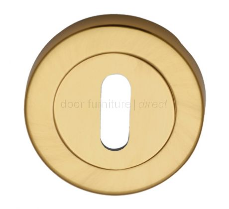 Polished Brass Round Key Hole Escutcheon 53mm