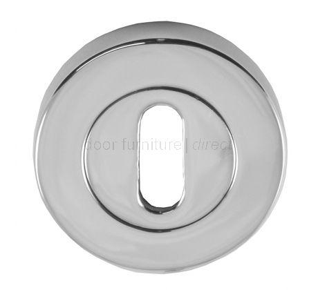 Polished Chrome Key Hole Escutcheon 53mm