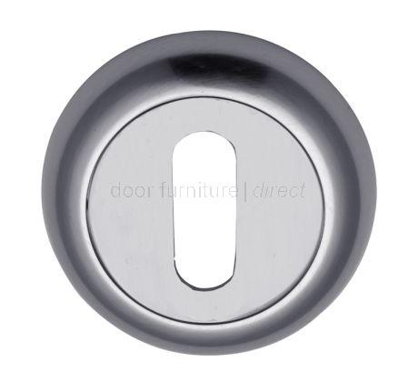 Polished Chrome Curved Key Hole Escutcheon 48mm