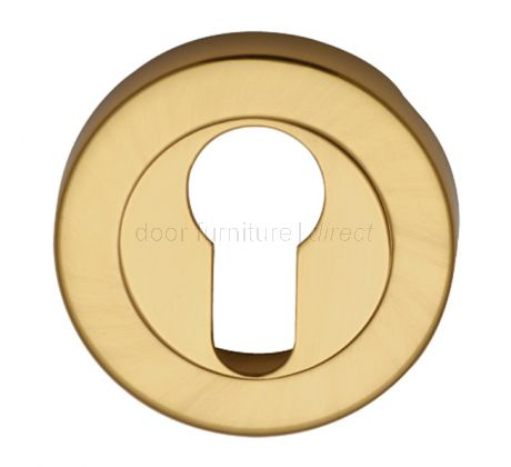 Polished Brass Round Euro Profile Escutcheon 53mm
