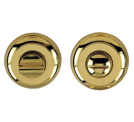 Polished Brass Curved Thumb Turn and Emergency Release 48mm