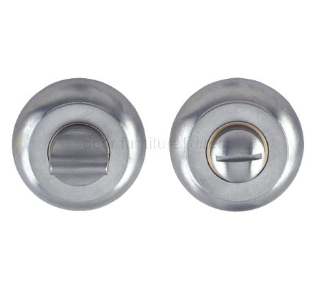 Satin Chrome Curved Thumb Turn and Emergency Release 48mm