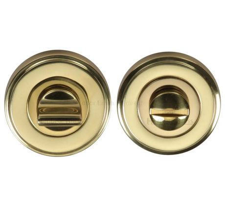Polished Brass Thumb Turn Button and Emergency Release 50mm