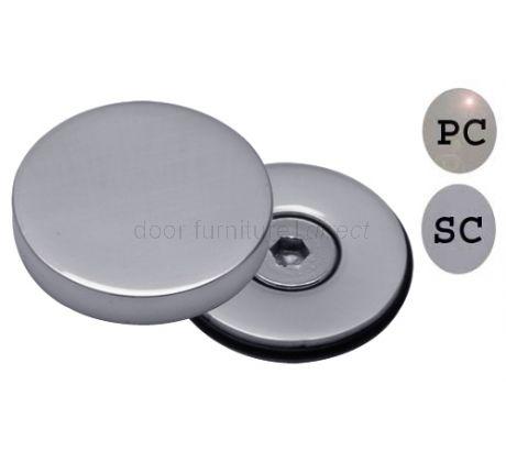 Satin Chrome Concealed Bolt Head Cover Plate