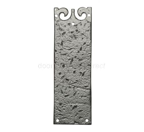 Black Antique Iron Door Push Plate 222x73mm 768
