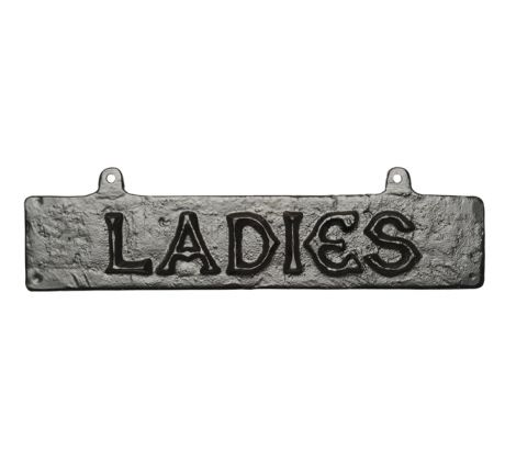 Black Antique Iron House Name Plate 368x73mm 777