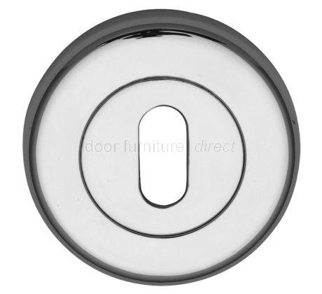 Polished Chrome Sorrento Key Hole Escutcheon 53mm