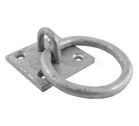 Galvanised Ring on Plate 50x50mm