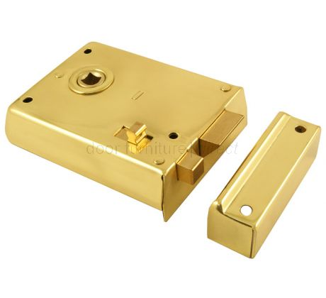 Brass Rim Latch With Slide Latch