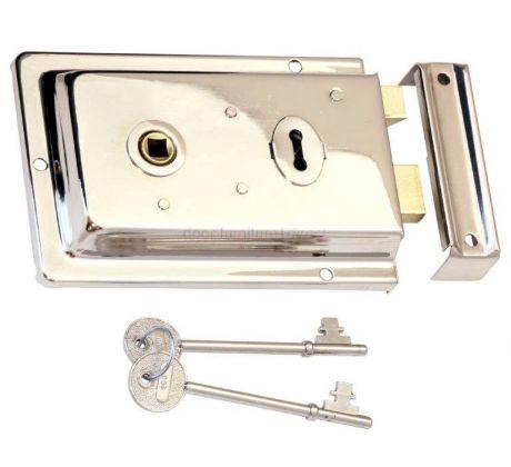 Polished Nickel Rim Lock 155x105mm