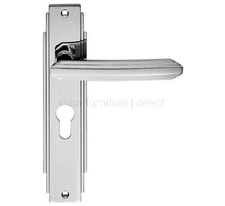 Polished Chrome Art Deco EURO PROFILE Door Handles