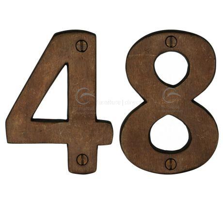 Solid Bronze Rustic Door Numbers 0-9 76mm (3in)