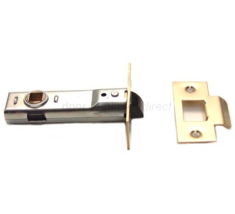 Union Tubular Mortice Latch Electro-Brassed 3in (80mm)