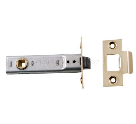 Union Tubular Mortice Latch Electro-Brassed 3.5in (91.5mm)