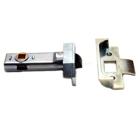 Union Rebated Tubular Mortice Latch Bright Zinc 3in (80mm)