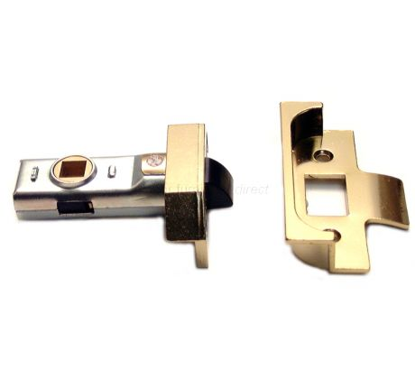 Union Rebated Tubular Mortice Latch Electro-Brassed 2.5in (64.5mm)