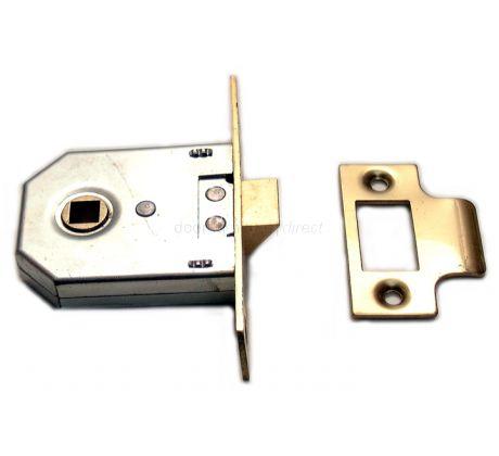 Union Square Cased Mortice Latch Brass 2.5in (63.5mm)