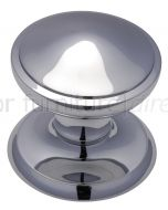 Polished Chrome Stepped Edge Front Door Knob 3in