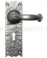 Pewter Finish Lever Lock Door Handles 152 x 47mm P2451-WK