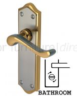 Buckingham Scroll Lever Dual Finish Bathroom Door Handles