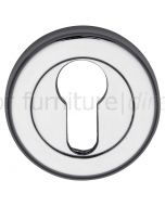 Polished Chrome Euro Profile Escutcheon 53mm