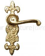 Antique Style Brass Latch Door Handles 190x55mm 2450