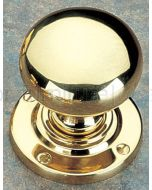 Unlacquered Brass 64mm Bun Door Knobs
