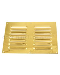 Brassed Louvre Vent upto 229x152mm Openings