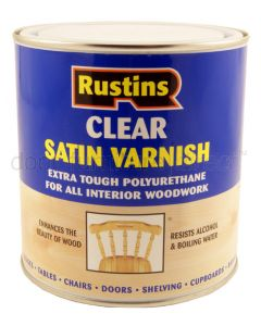 Rustins Clear Satin Varnish 500ml