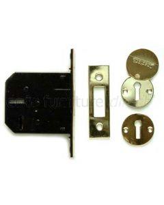 Securefast 76mm 3 Lever Deadlock Brass