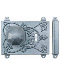 Rawnsley Pewter Range Rim Door Lock and Knobs PRLC451C