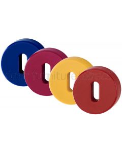 Coloured Nylon Key Escutcheons In Pairs