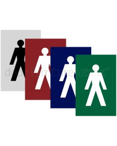 Coloured Nylon 100x150mm Male WC Sign
