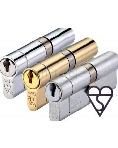 British Standard 6 Pin 1 Star Euro Profile Double Cylinder Keyed To Differ