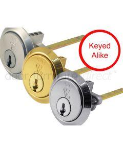 British Standard 6 Pin 1 Star Rim Cylinder Keyed Alike