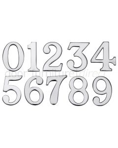 Polished Chrome Self Adhesive Front Door Numbers 0-9 2in (51mm)