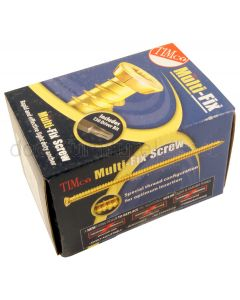 Concrete Screws Yellow Plated Box of 100