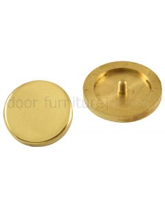 Flat Disc Coverhead Polished Brass
