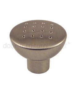 Dimple Cupboard Knob 32mm Satin Nickel